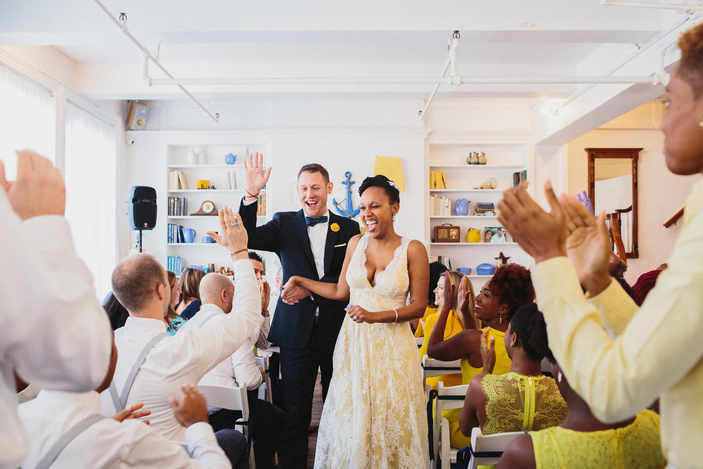 Brunch wedding in New York with photos by Corey Torpie of Neisha and Troy