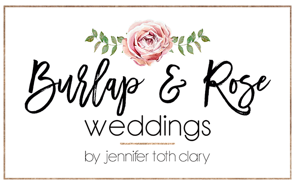 Burlap & Rose Weddings by Jennifer Toth Clary