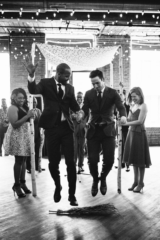 Jewish Gay Wedding Dumbo Harlem New York NYC Corey Torpie Bindle Keep Jumping the Broom