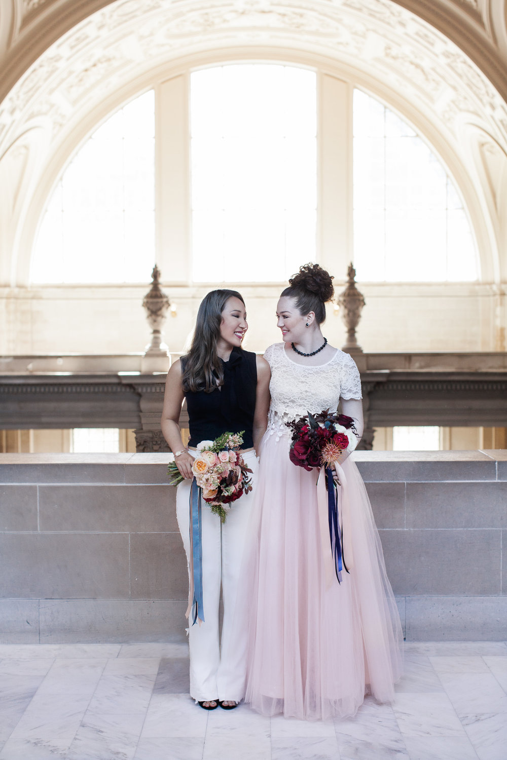 San Francisco City Hall Lesbian LGBTQ Elopement Styled Shoot by Buena Lane Photography