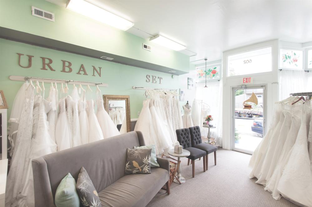 Urban Set Bride Boutique in Cherry Hill Neighborhood of Richmond, Virginia
