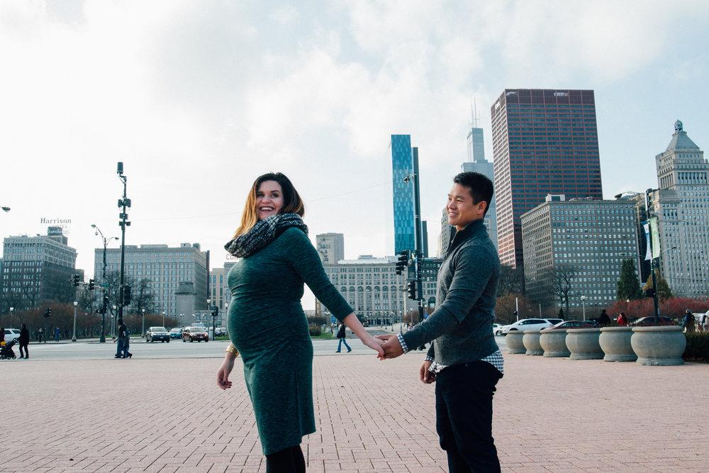 Tiffany Aufman Surprise Wedding Proposal Engagement Maternity Chicago
