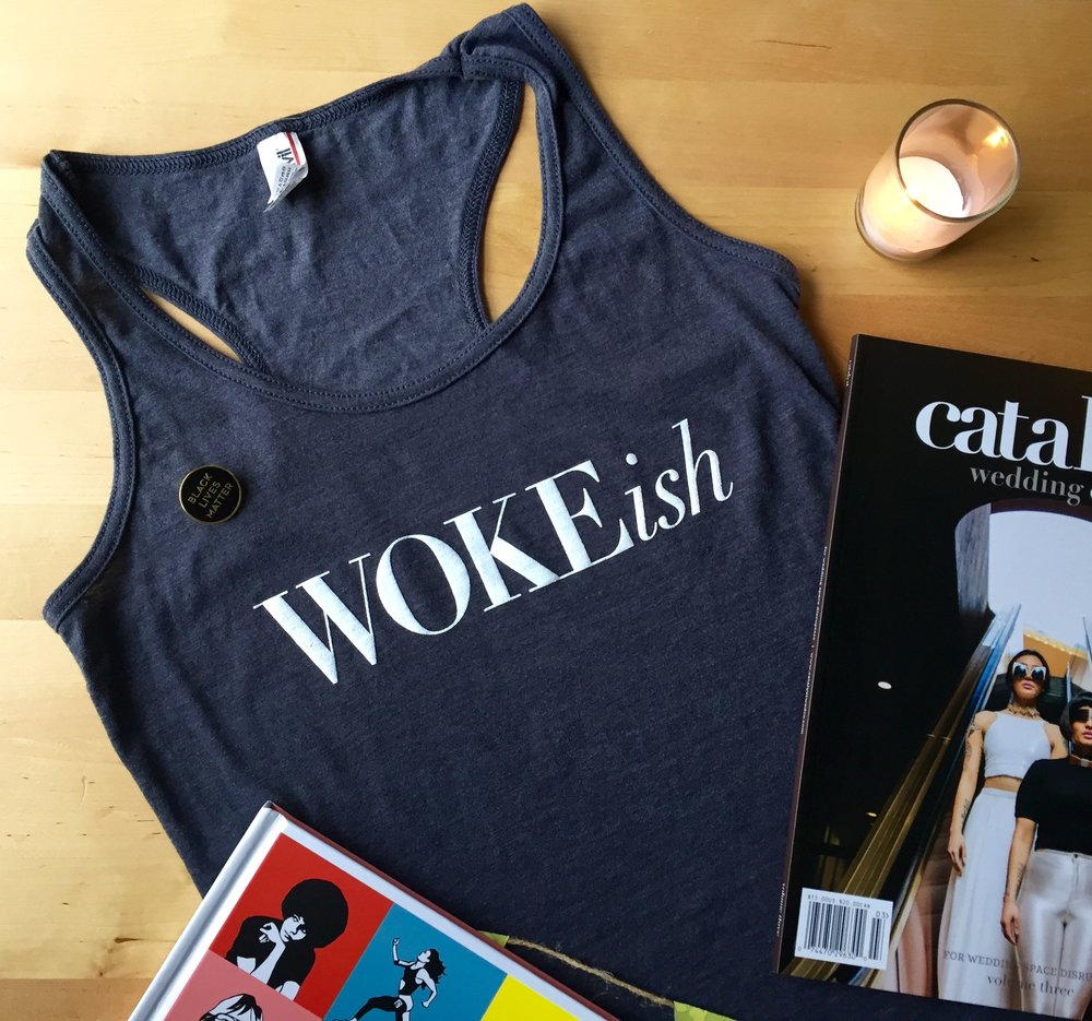 Woke-ish tank and Catalyst magazine are available in our online shop