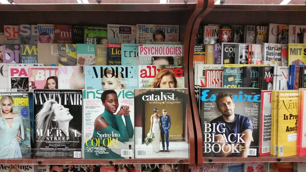 Catalyst Wedding Magazine on the shelves at Brookline Booksmith.