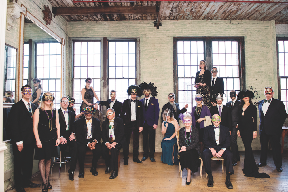 LGBTQ masquerade wedding in New York with photos by Liesl Henrichsen of Photo Pink