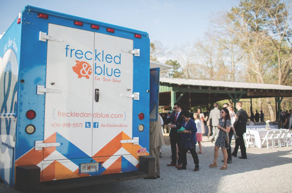 Freckled and Blue Food Truck Black Sheep Bride Claire Diana Photography
