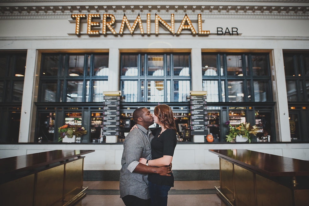 Downtown Denver Colorado Union Station Wedding Engagement Session Suzanne Jakes