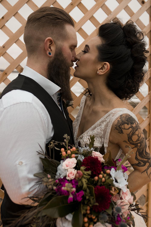 Edmonton Alberta Canada Geometric Punk Styled Wedding Shoot