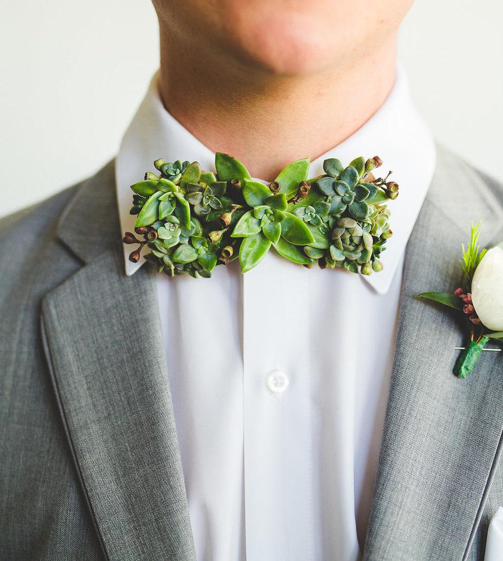 Columbus Ohio Wedding Inspiration Marriage Flowers Succulents Bow Tie Rachel Barehl