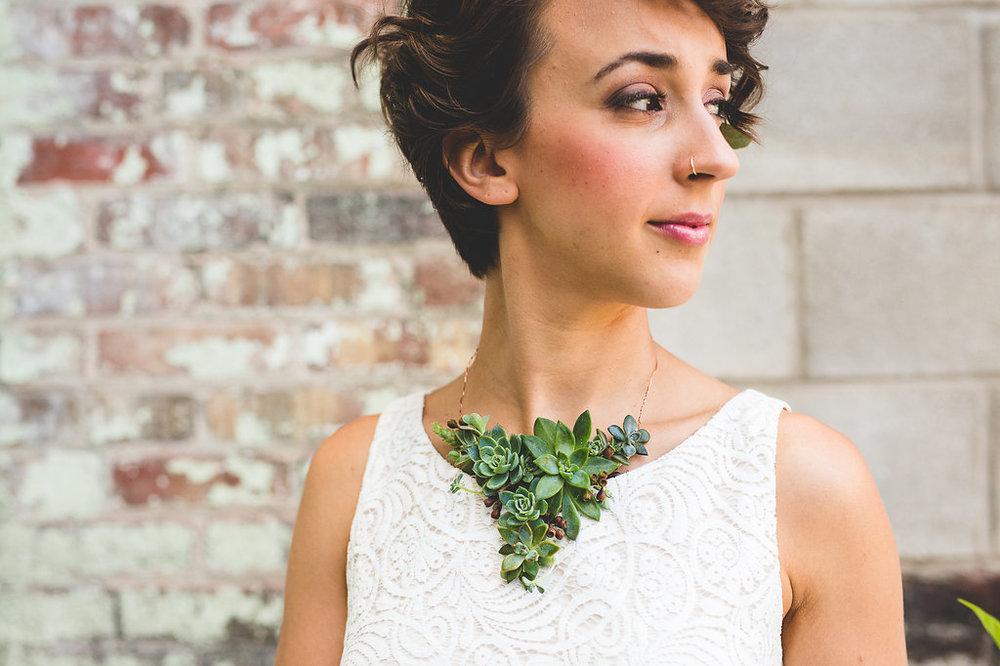 Columbus Ohio Wedding Inspiration Marriage Flowers Succulents Bow Tie Rachel Barehl Bridal Separates Crop Top