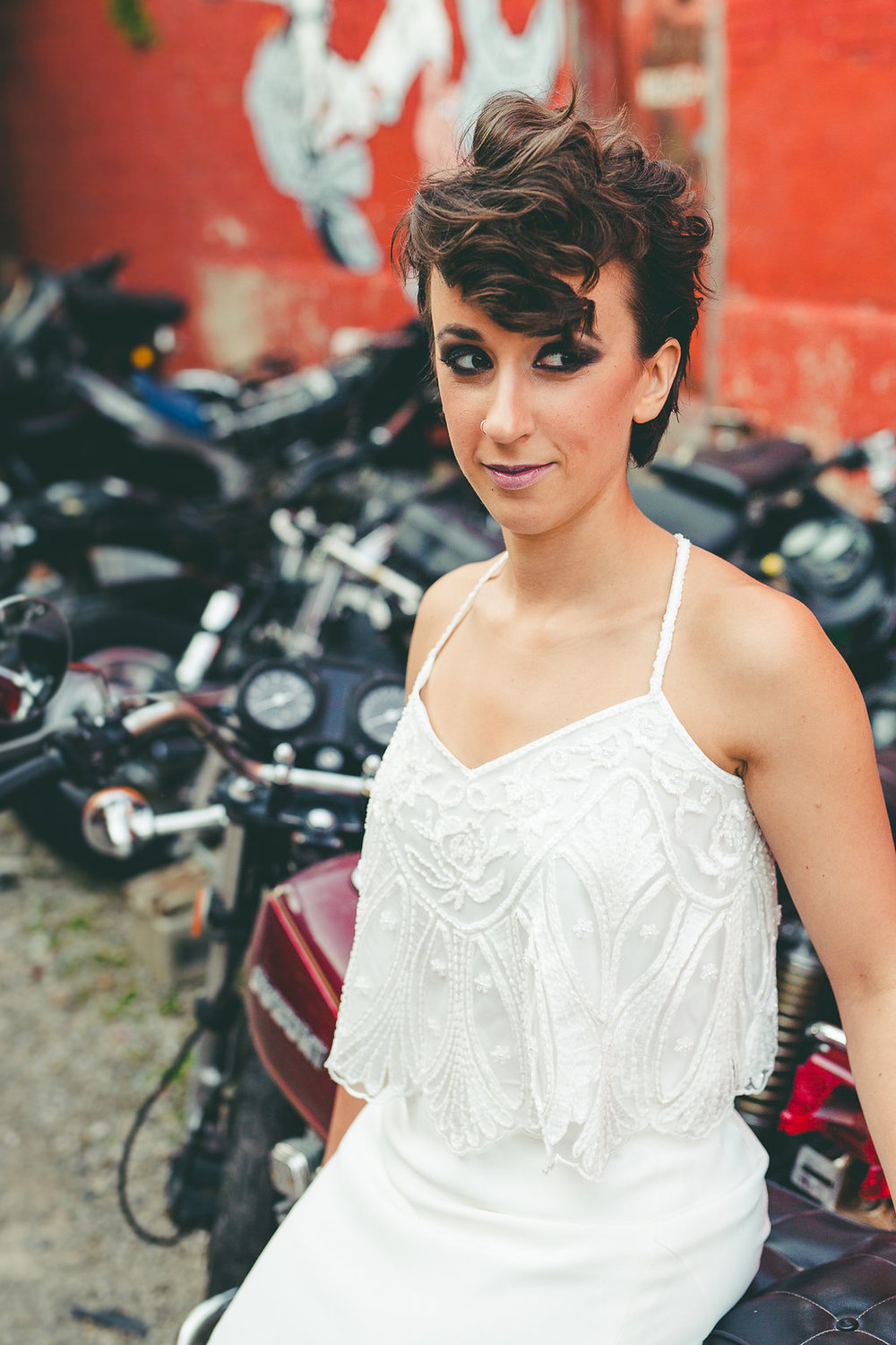Columbus Ohio Grunge Wedding Inspiration Motorcycle