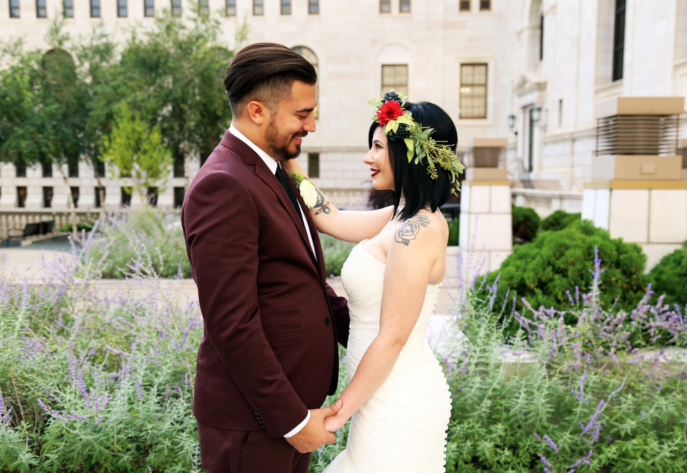 Gothic Library Wedding at the James J Hill Library in Saint Paul Minnesota Photos by Mattie Krall
