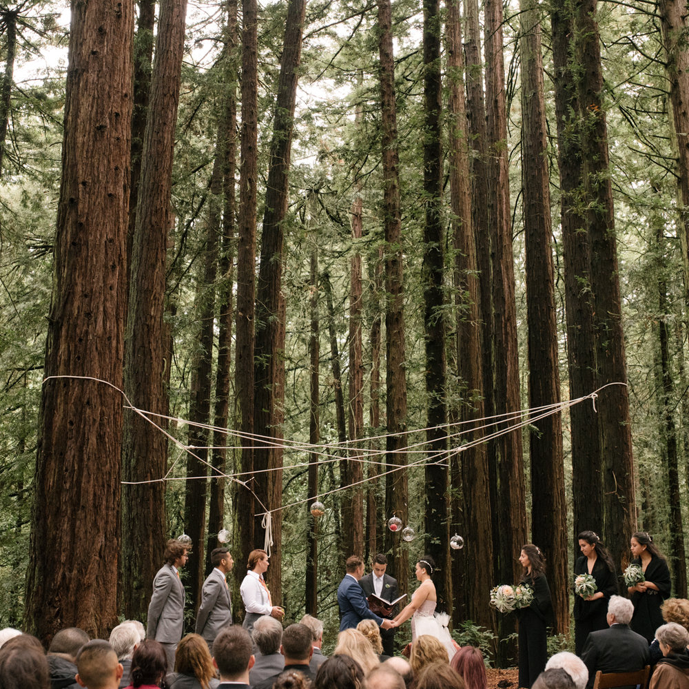 Redwoods California Wedding with symbolic Persian elements by Christina Richards Photography