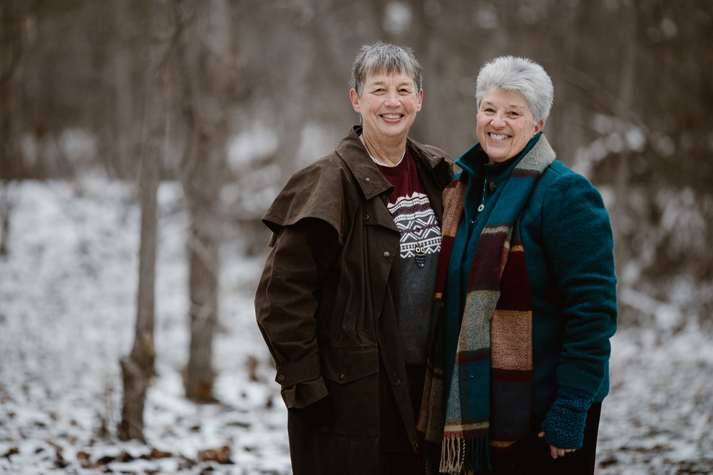 Knoxville Tennessee LGBTQ Wedding in Diana and Sues Country Home After 26 Years Together