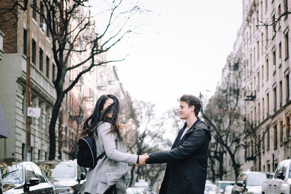 Long Distance Relationship Couples Photography in New York City by March 13 Photography