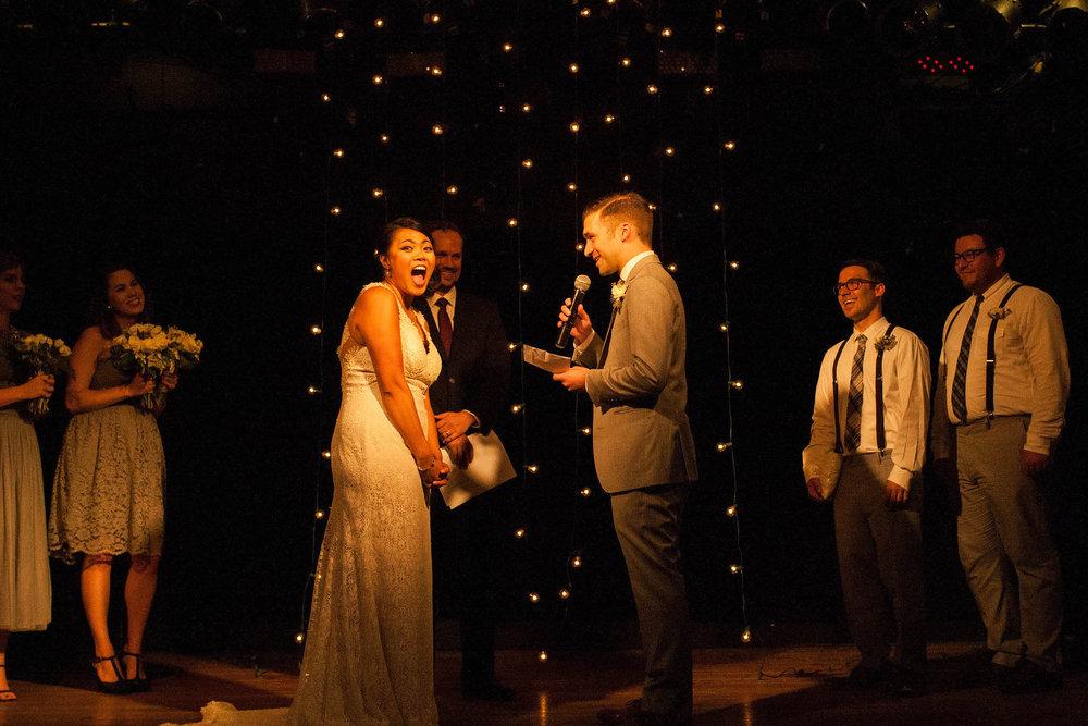 Heidi Uhlman Chicago Bottom Lounge wedding