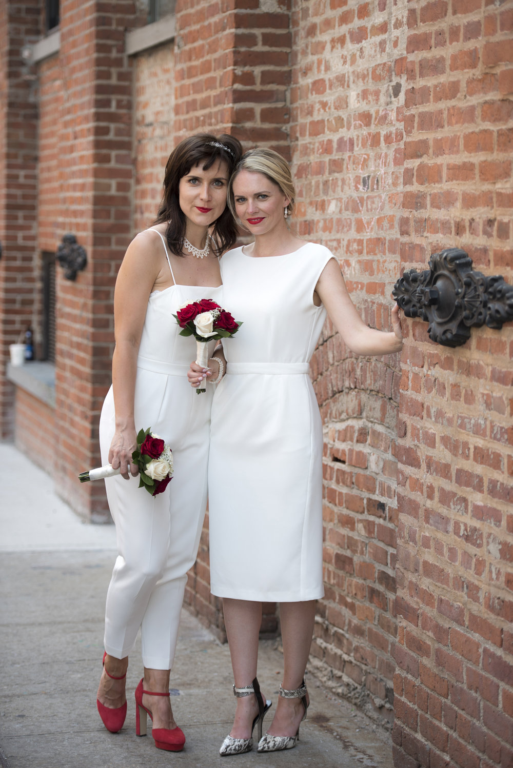 LGBTQ Elopement of London couple at Manhattan City Hall and Brooklyn by Studio A Images