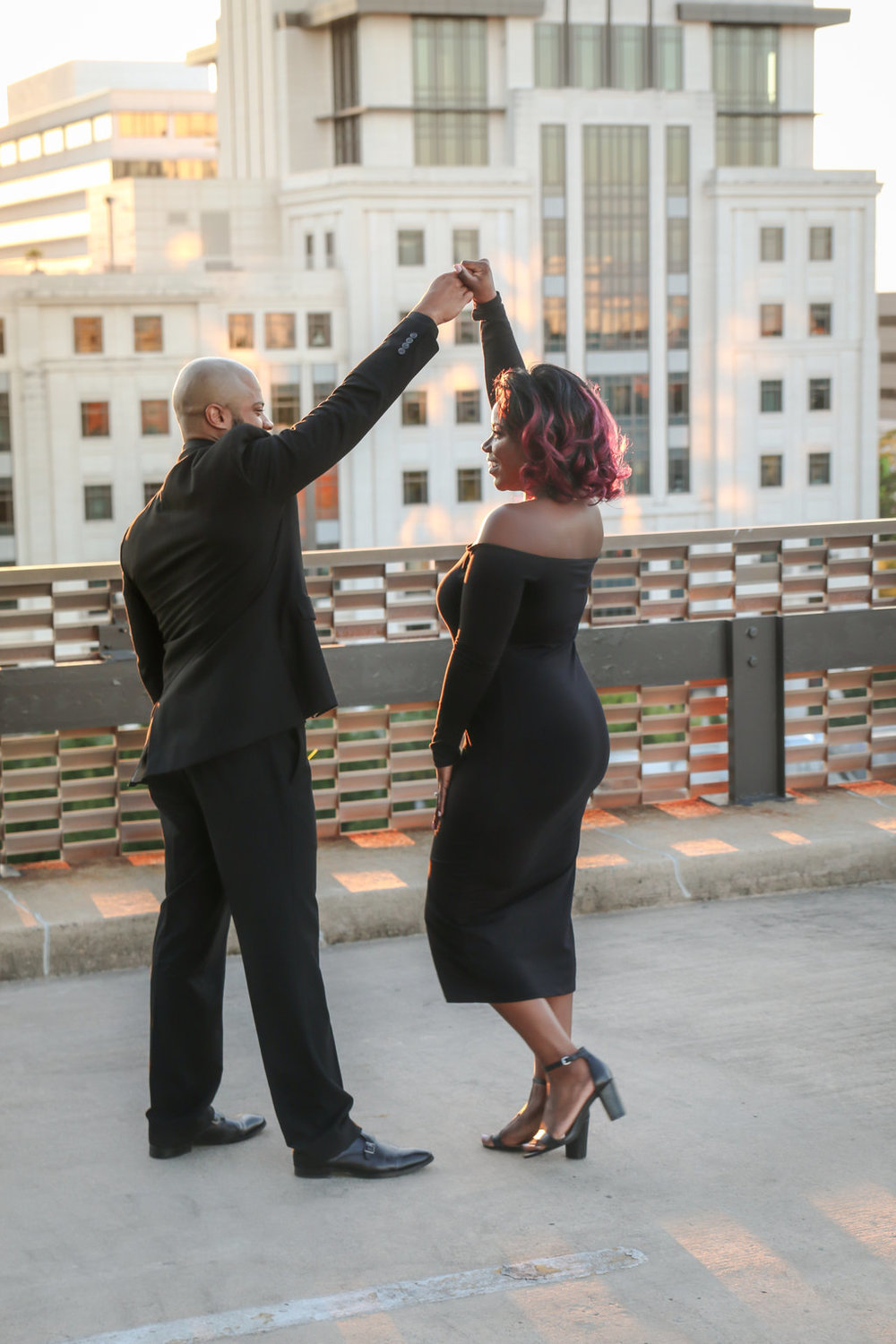 Lavish Moments Photography Rooftop Engagement