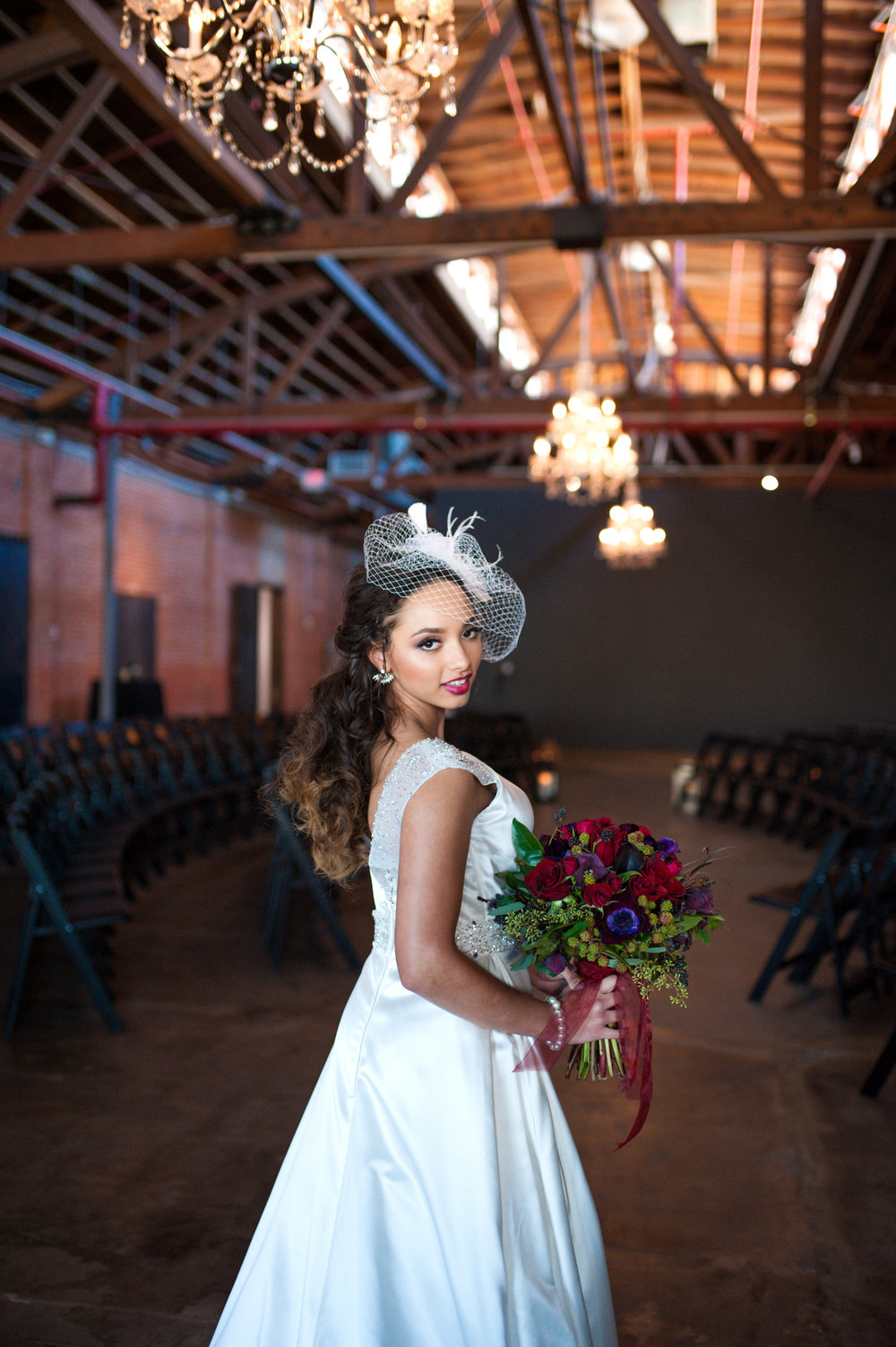 Elegant Industrial Wedding Inspiration Shoot Celebrating Black Love in Arizona by Erika Swift of J&E Designs