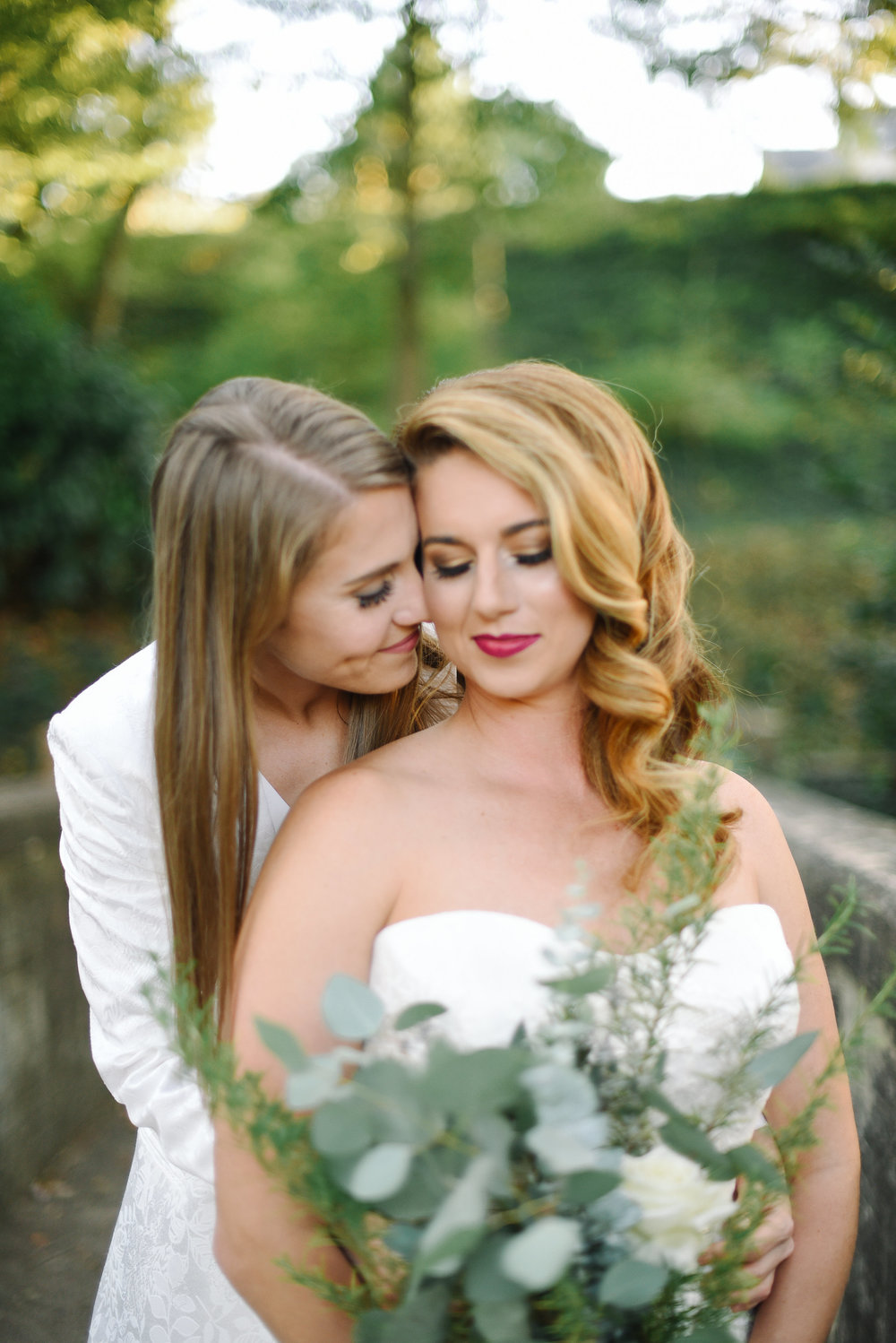 Lesbian LGBTQ Best Friends in Love Wedding Inspiration in Greenville South Carolina by House of Ivory and Elizabeth Testa Photography
