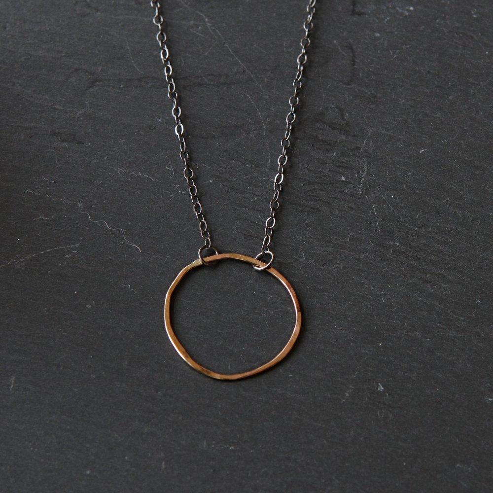 Imperfect Circle Necklace by Rebecca Perea-Kane of Thicket