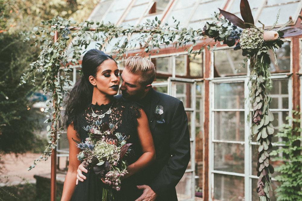 Diana Ascarrunz & Shaun Delgado-Harris Moody New Orleans Witchy Shoot