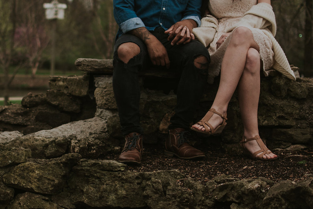 Erika Ryan Photo Rainy Day Engagement