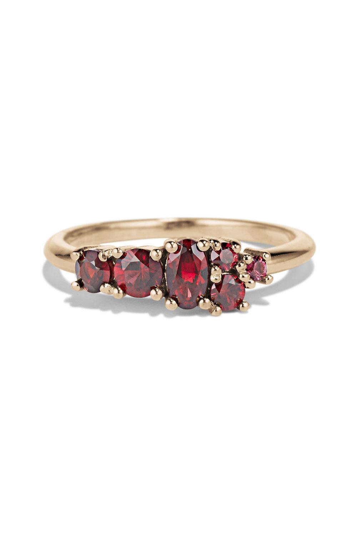 Bario Neal Garnet Cluster Ring