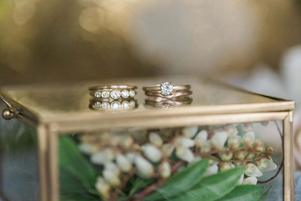 Photos of ethical rings by  Aide-mémoire Jewelry  taken by  B. Jones Photography