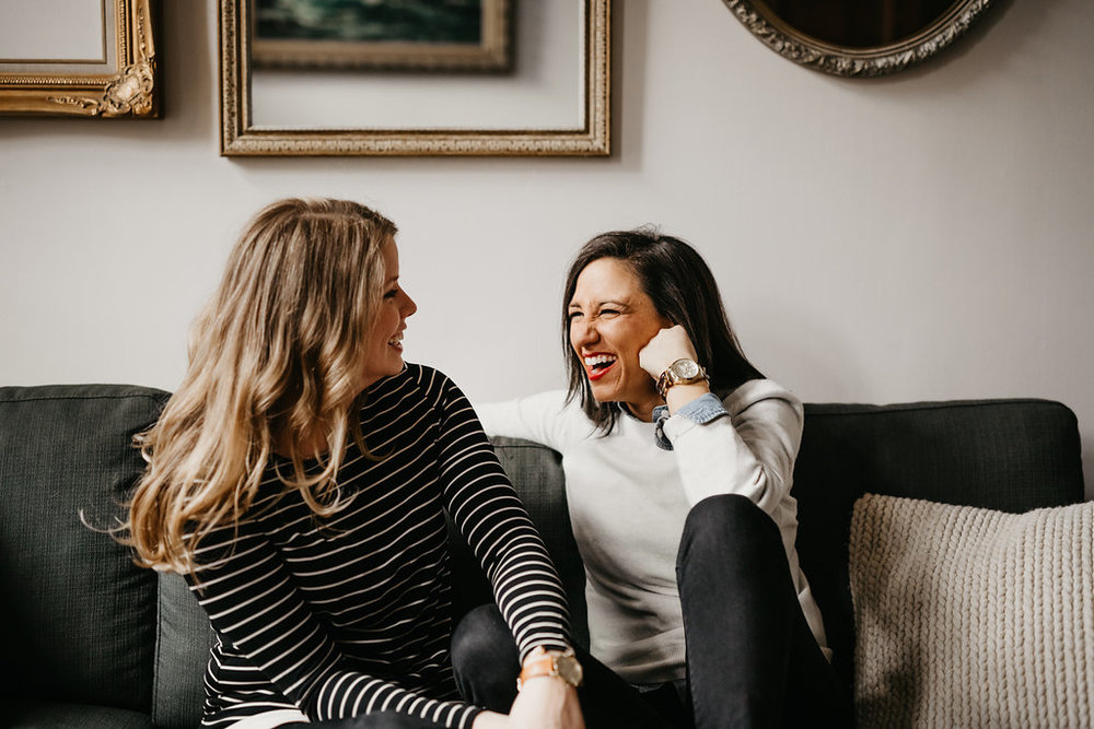 Leah and Rachel's at home New York City wedding engagement session by Wilde Scout Photo Co.