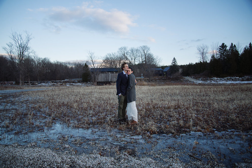 Julia Luckett Winter Solstice Elopement Vermont