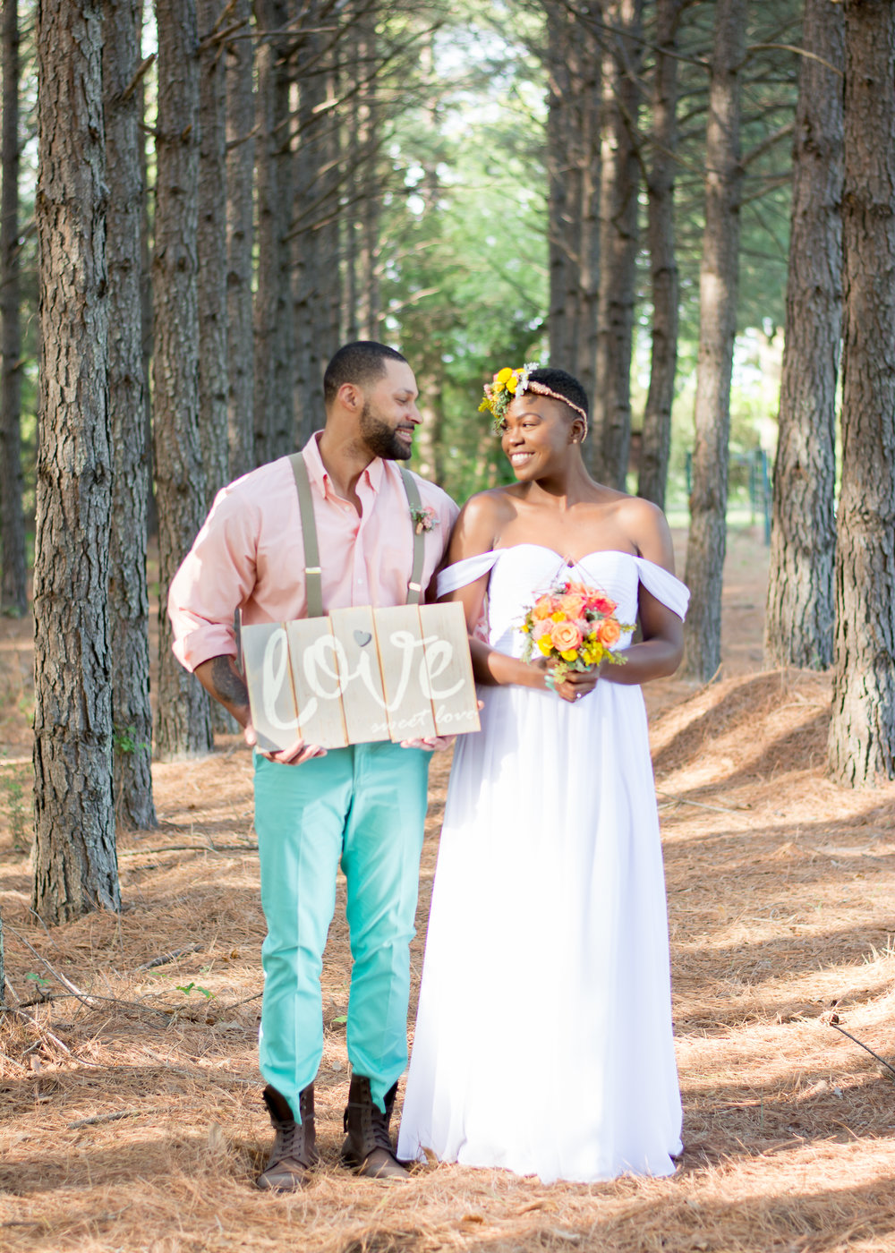 Denise Benson Photography and Vivid Detail Event Design Bohemian Woodland Wedding