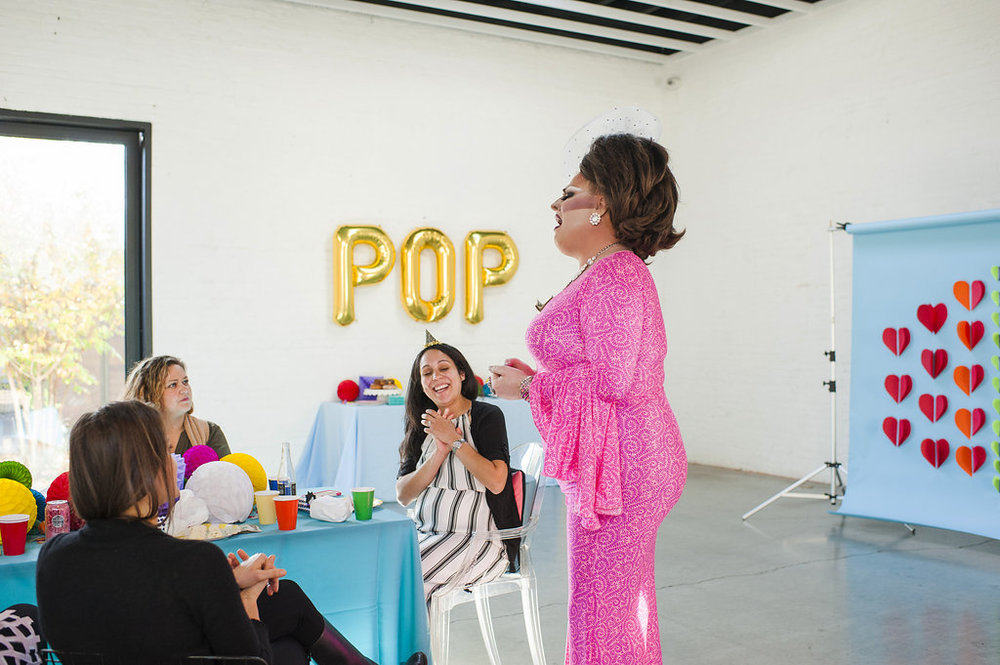 Michelle Bablo Hell Yes Design Drag Pop Art Baby Shower