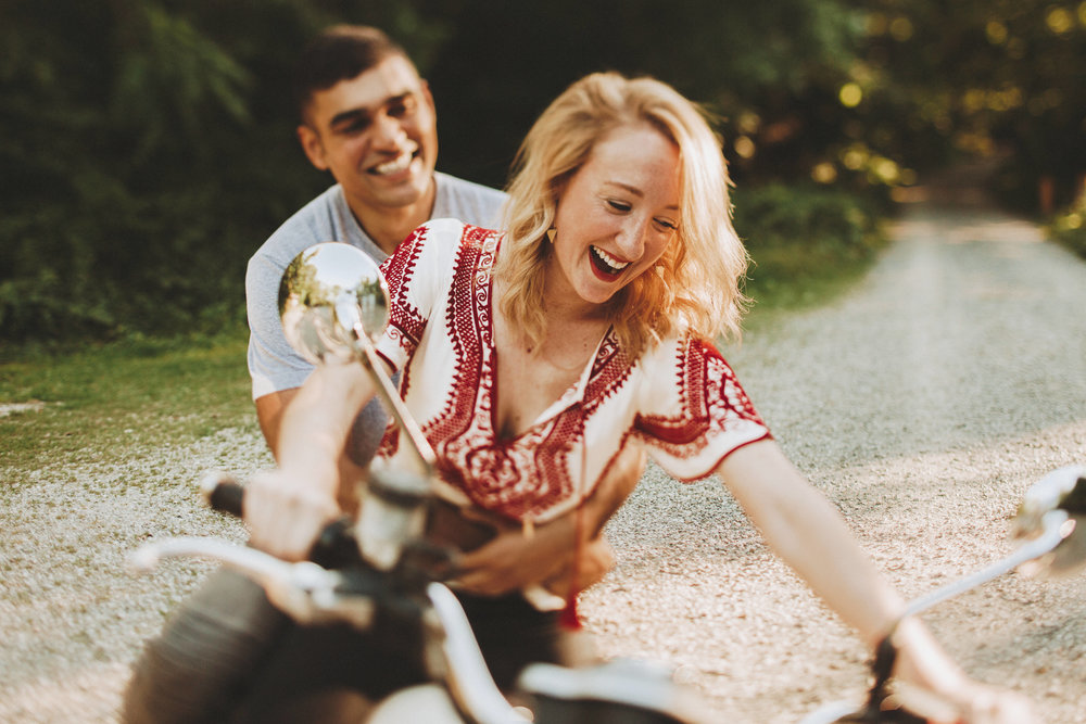 Nessa K Photography Fine Art Motorcycle Engagement