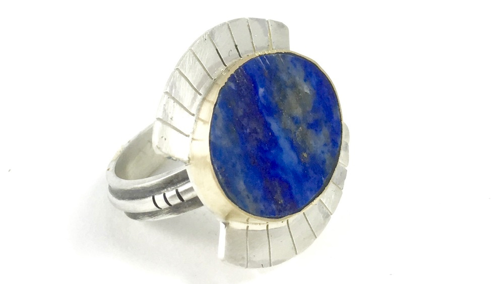 Lapis Lazuli Wide Eye Ring by Young in the Mountains