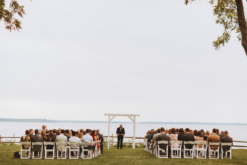 Wedding ceremony at Great Oak Manor
