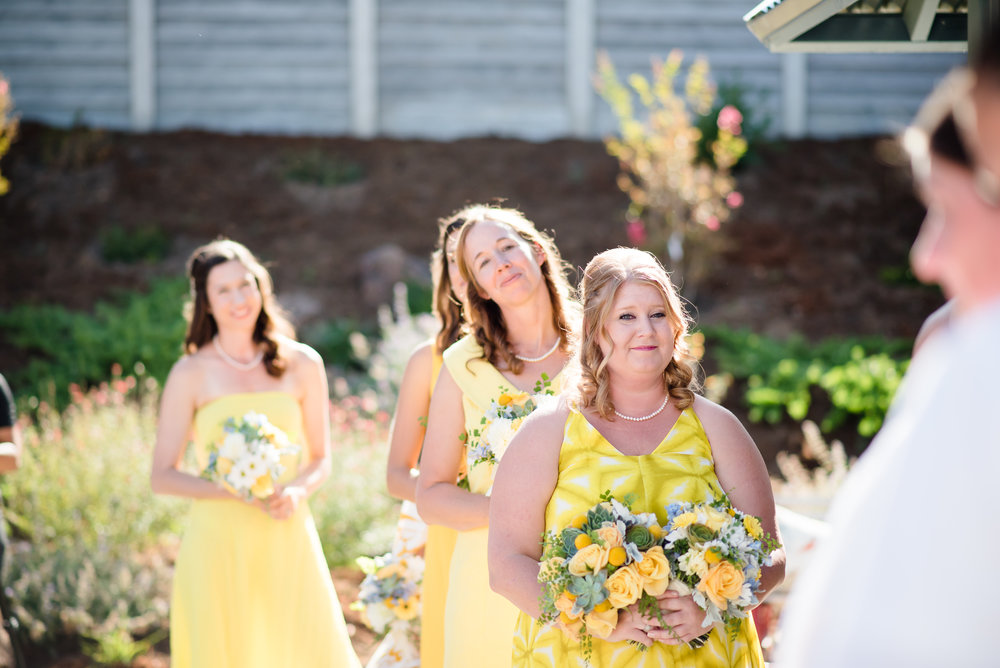 Chloe Jackman yellow firefighter wedding