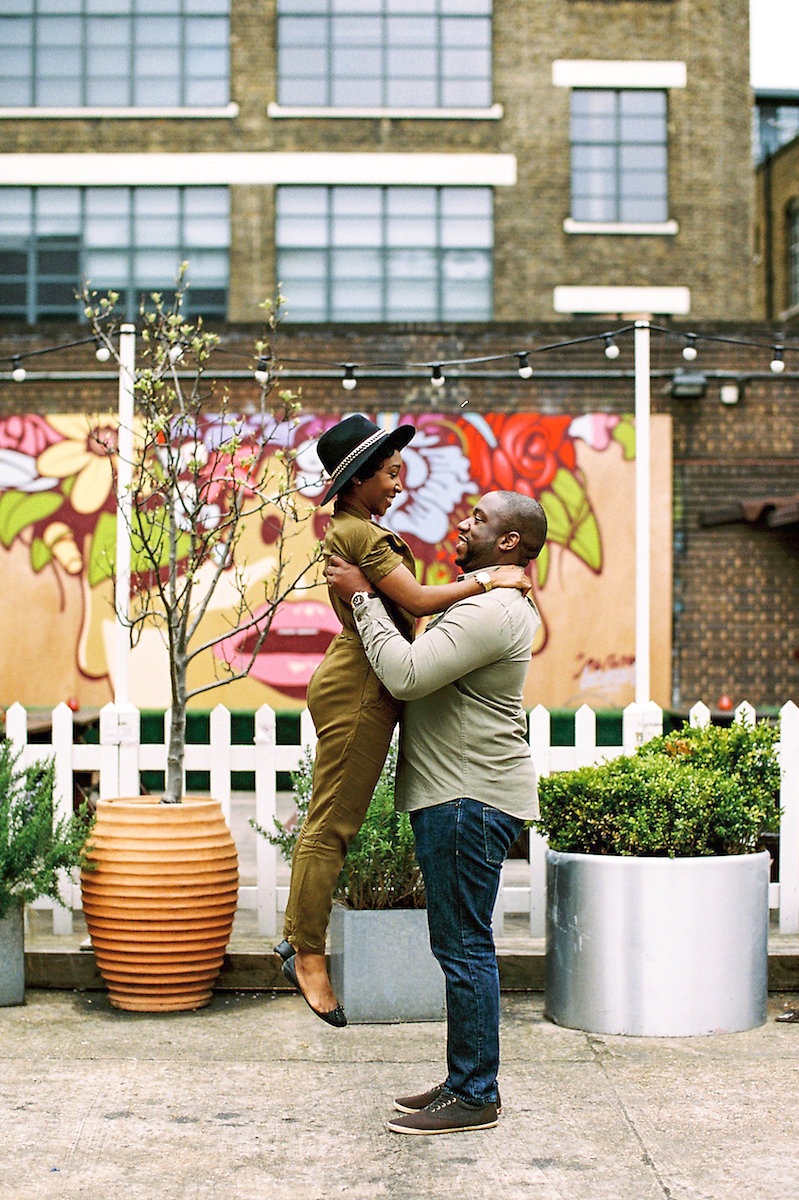 Brick Lane London Wedding Engagement Session by Becky Bailey Photography