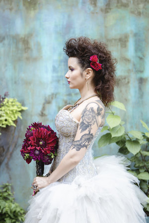 Wedding Inspiration // Tattooed Brides, Vintage Motorcycle, + ...
