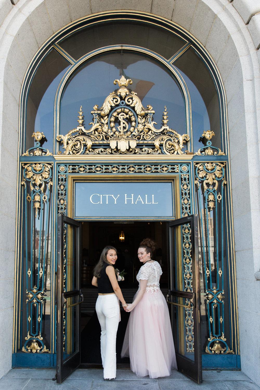 LGBTQ San Francisco City Hall Wedding Photo by Buena Lane Photography