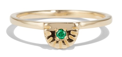 Gold and Emerald Ray Ring by Bario Neal