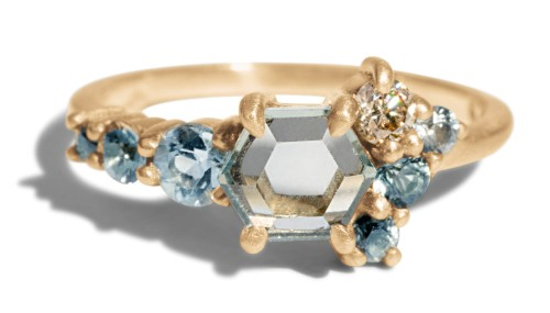 Hex Sapphire Cluster Ring by Bario Neal