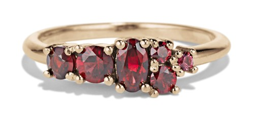 Garnet Cluster Ring by Bario Neal