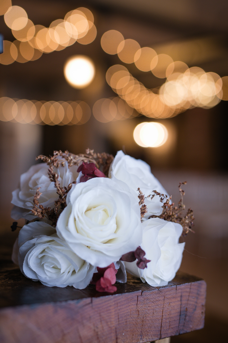 silk flower bouquet for a winter wedding
