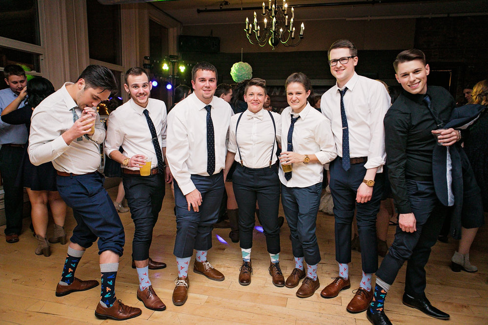 fun socks on groomsmen