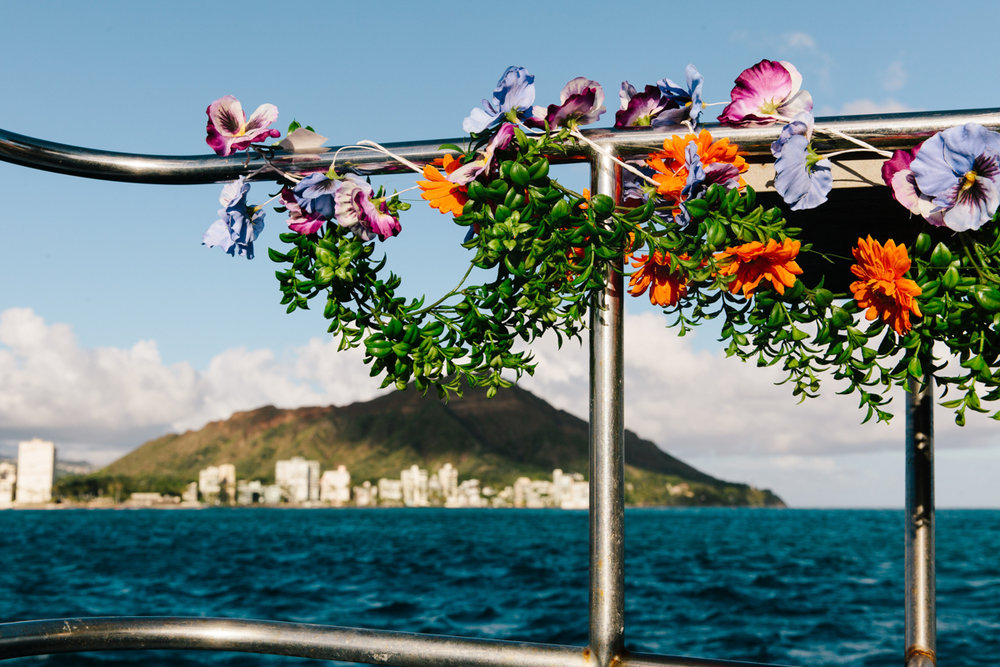 Hawaii wedding on a boat