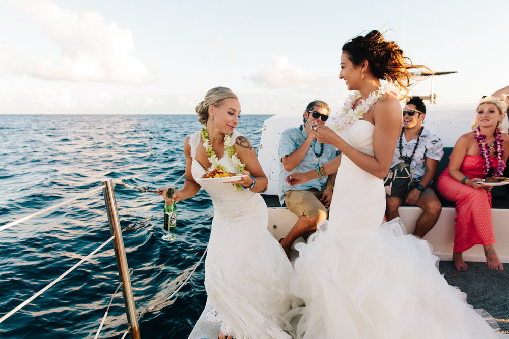 yacht wedding in Hawaii