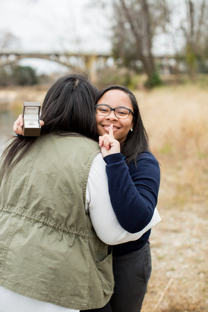 Columbia South Carolina Same Sex Surprise Wedding Proposal by Jessica Hunt  Photography