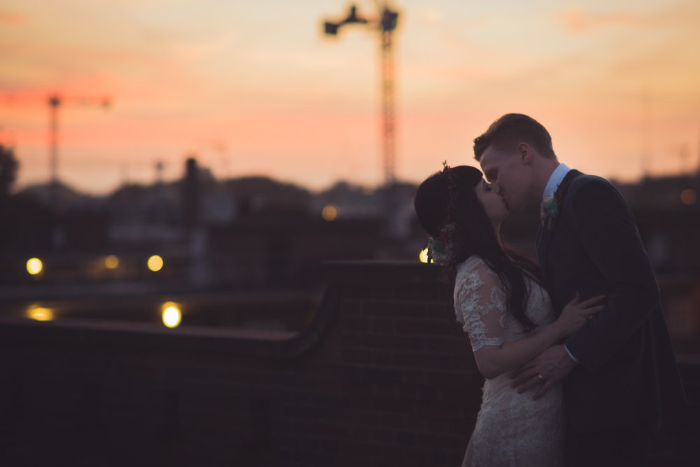 Rooftop views at JJ Studios in Shoreditch. Photo by  Amy and Omid Photography .