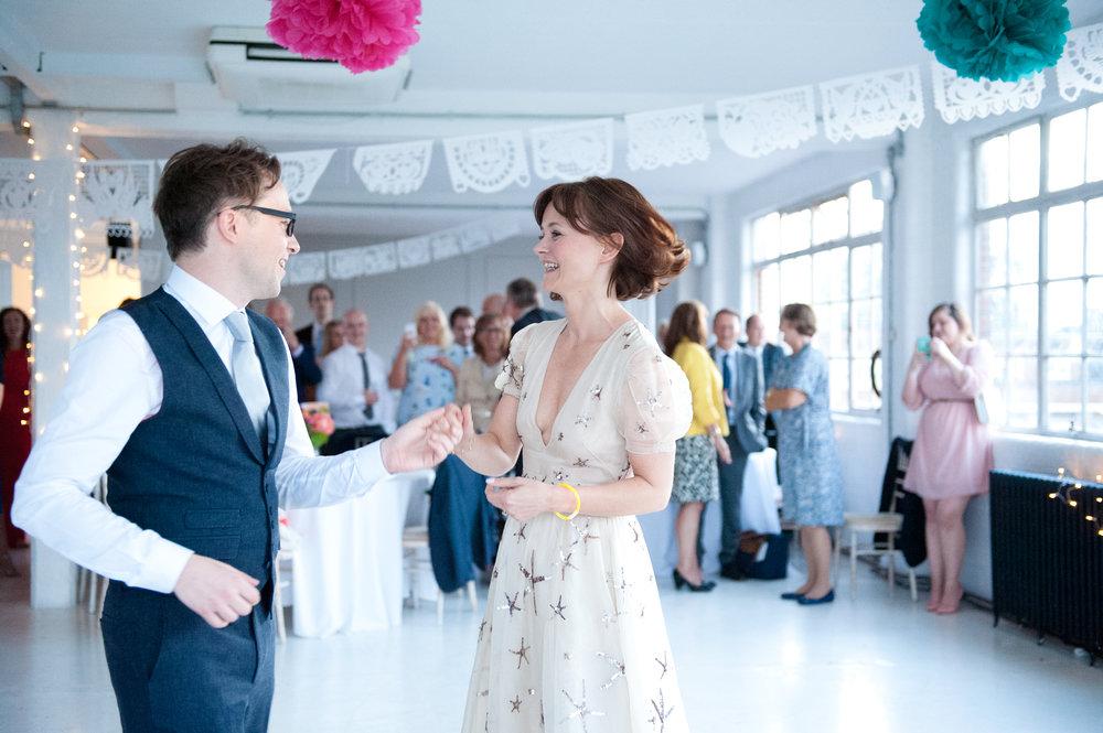 Wedding reception at JJ Studios. Photo by  Annalie Eddy Photography .
